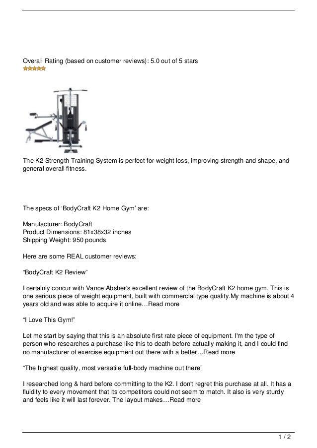 Bodycraft K2 Home Gym Review