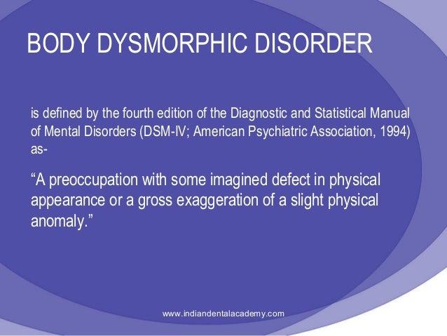body dysmorphic disorder definition