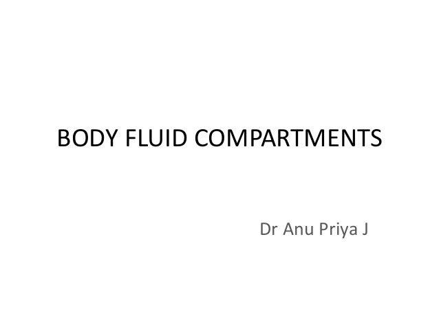 BODY FLUID COMPARTMENTS Dr Anu Priya J