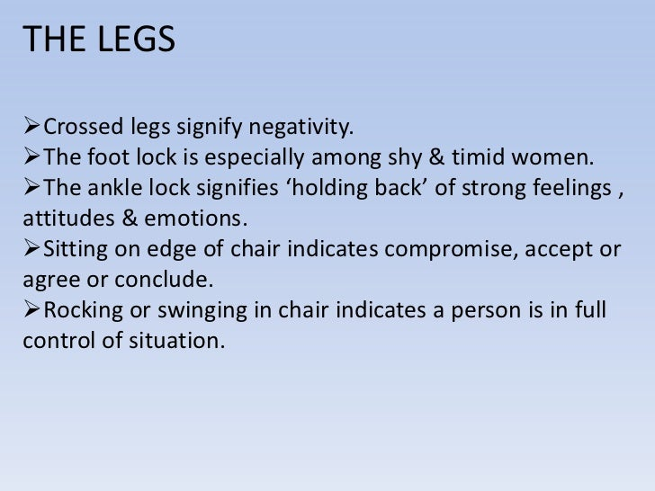 Body language shaking legs