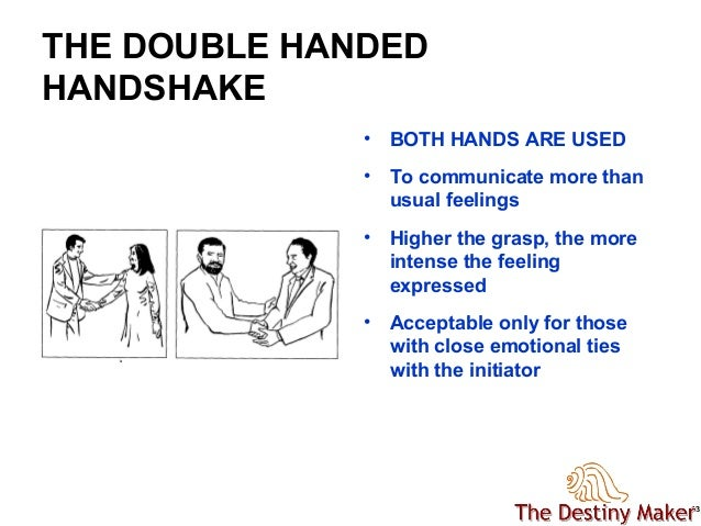 double handed handshake meaning