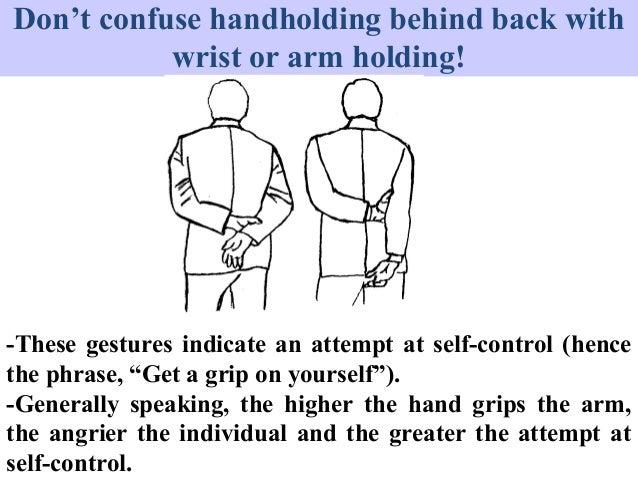 Body language arms behind back