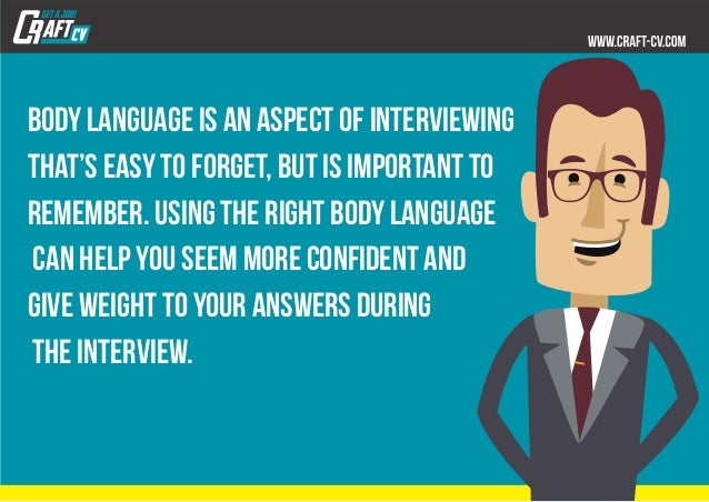 Body language is an aspect of interviewing that's easy to forget, but is important to remember. Using the right body langu...