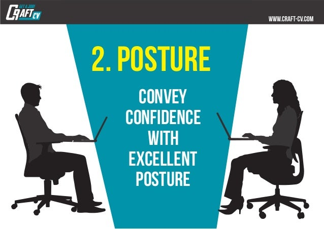 2. posture convey confidence with excellent posture