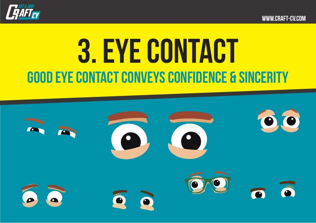 Proper eye contact is the fastest and most effective non-verbal signal to another person 95
