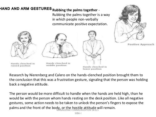 Rubbing arm body language