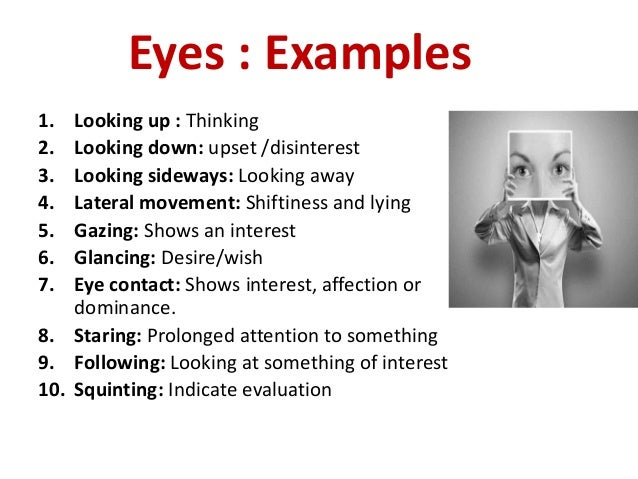 how to read body language eyes