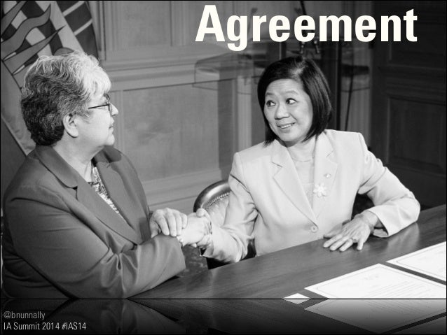 @bnunnally IA Summit 2014 #IAS14 Agreement