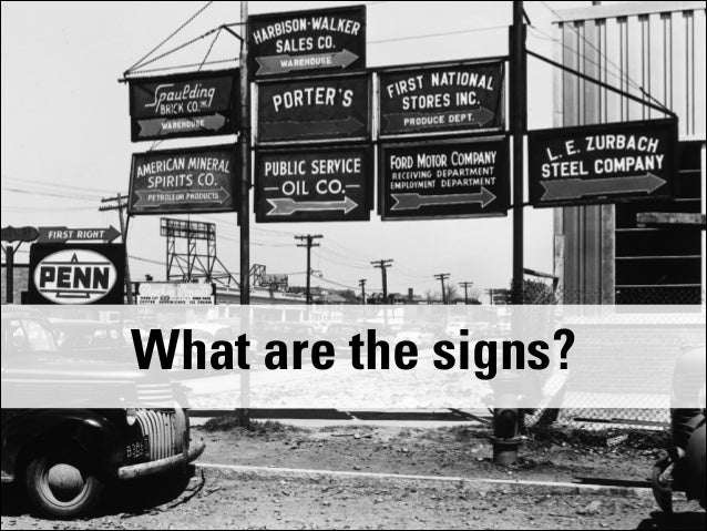 @bnunnally IA Summit 2014 #IAS14 What are the signs?