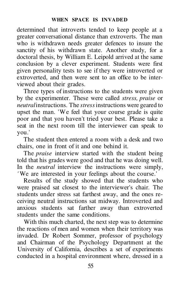 body language essay thesis