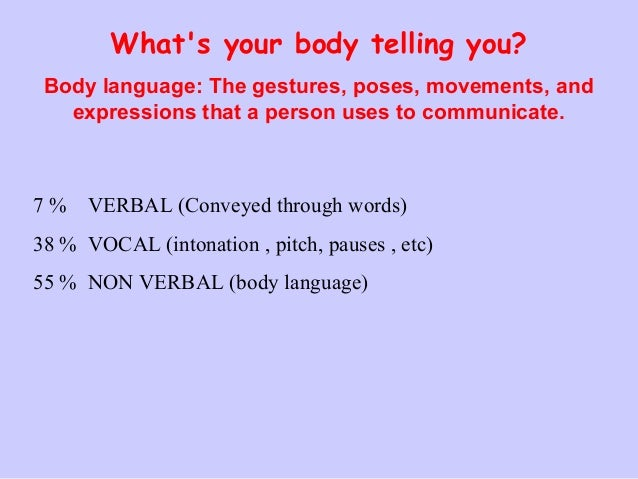 body language ppt body language by mrs rashmi shahu 2