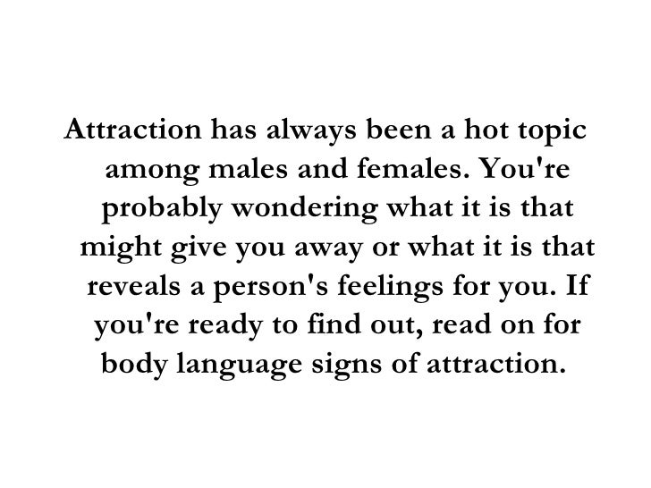 body language that a man is attracted to you