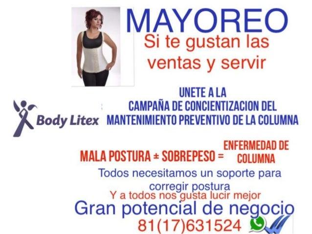 'MAYOREO  Si te gustan las ventas y servir      _ UNETEALA w % CAMPANA ne CDNCIENTIZACION un Body Litex MANTENIMIENTO PREV...