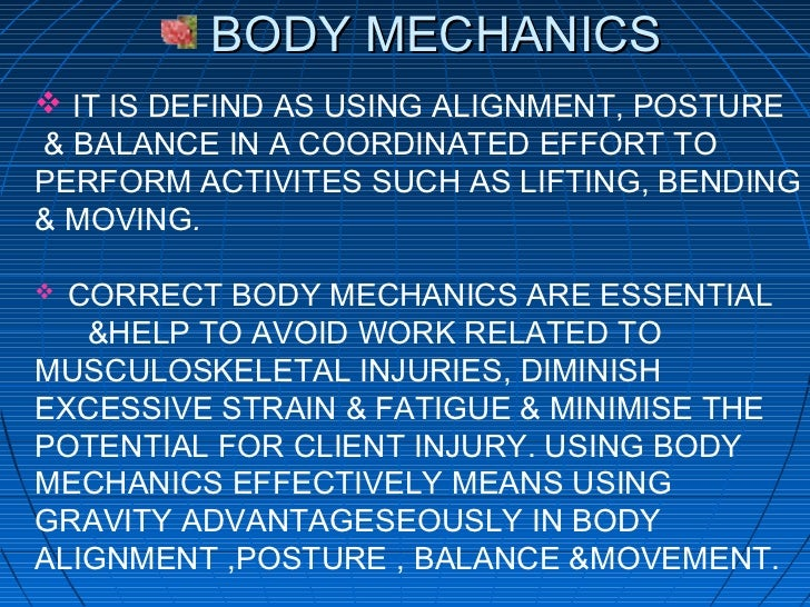 Spinal Structure and Body Mechanics