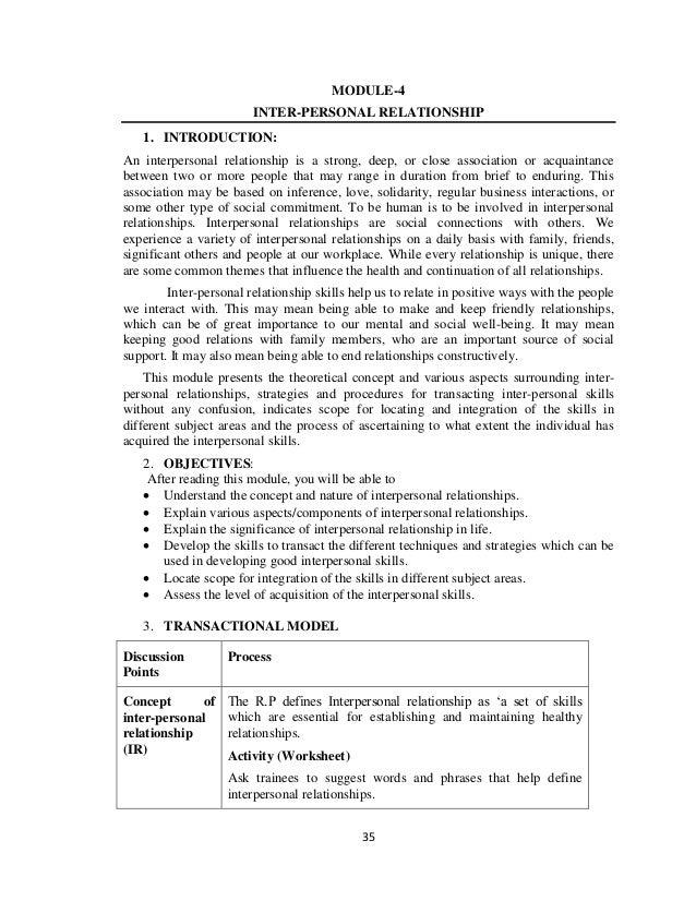Training Modules on Life Skills Education – Life Skills Worksheet