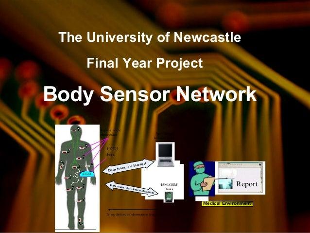 The University of Newcastle Final Year Project Body Sensor Network Sensor node electronics CCU CCU box Report Data trans. ...