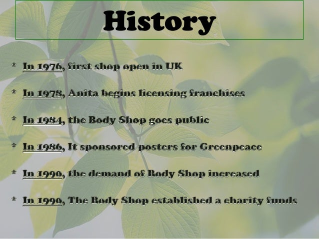 the body shop strategic plan This is a presentation highlighting the (speculative) marketing plan for body shop in uk for the forth coming year 2009 by chefjeegar in.