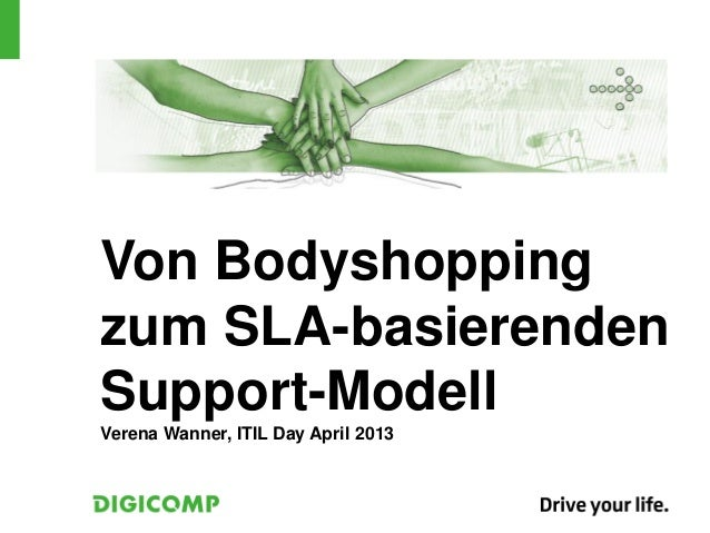 Von Bodyshoppingzum SLA-basierendenSupport-ModellVerena Wanner, ITIL Day April 2013