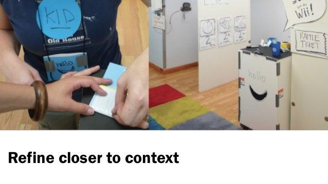 Refine closer to context