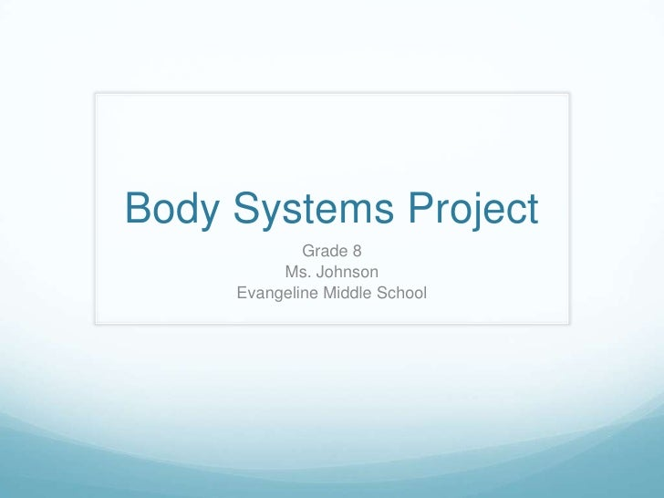 Body Systems Project             Grade 8          Ms. Johnson     Evangeline Middle School