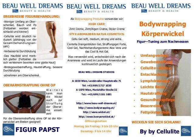 ERGEBNISSE FIGURBEHANDLUNG: -Weniger Umfang an Oberschenkel, Bauch und Po (Fettzellen werden entschlackt und kleiner)  Als...
