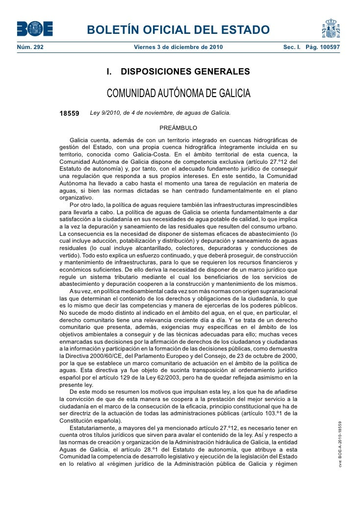 BOLETÍN OFICIAL DEL ESTADONúm. 292                                Viernes 3 de diciembre de 2010                          ...