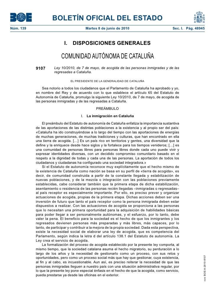 BOLETÍN OFICIAL DEL ESTADO Núm. 139                                  Martes 8 de junio de 2010                            ...