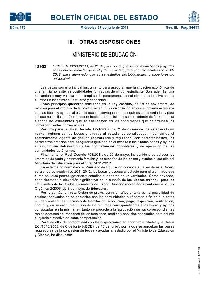 BOLETÍN OFICIAL DEL ESTADONúm. 179                                Miércoles 27 de julio de 2011                           ...