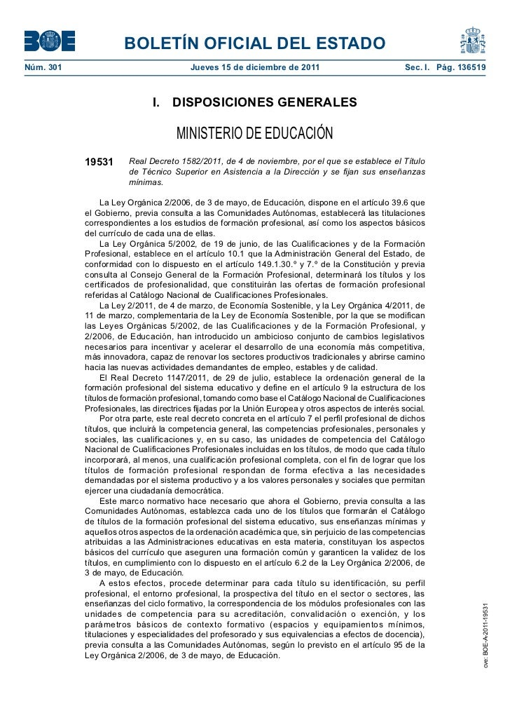 BOLETÍN OFICIAL DEL ESTADONúm. 301                                Jueves 15 de diciembre de 2011                          ...