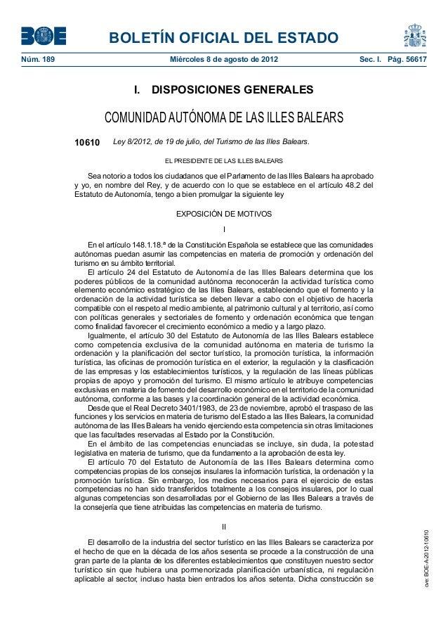 BOLETÍN OFICIAL DEL ESTADONúm. 189 Miércoles 8 de agosto de 2012 Sec. I. Pág. 56617I. DISPOSICIONES GENERALESCOMUNIDAD AUT...
