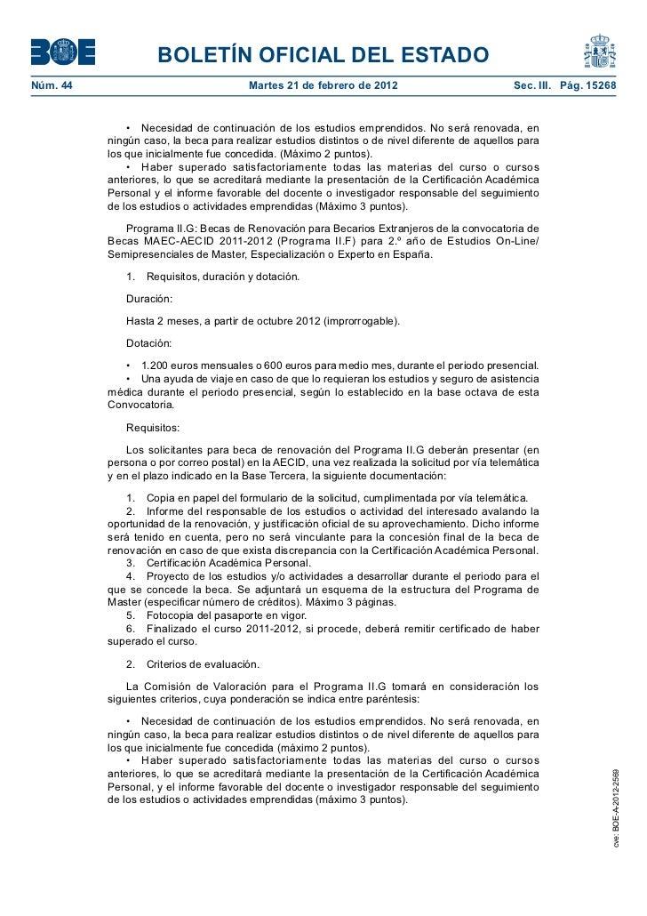 Convocatoria 2012 2013 de becas para ciudadanos for Convocatoria docentes exterior