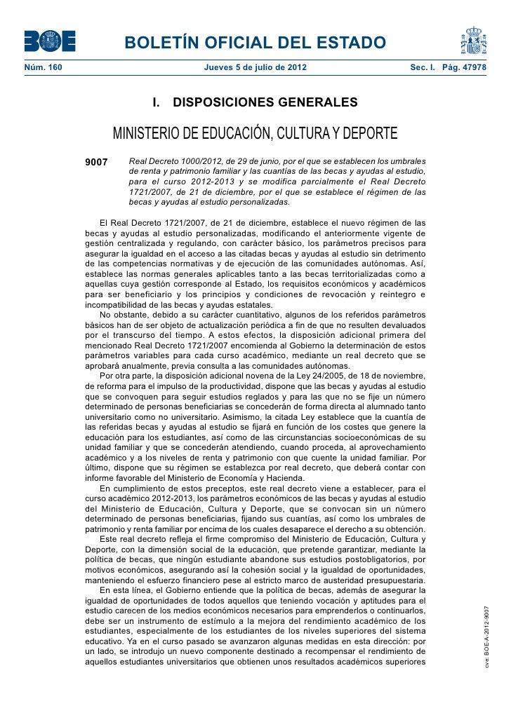 BOLETÍN OFICIAL DEL ESTADONúm. 160                                  Jueves 5 de julio de 2012                           ...
