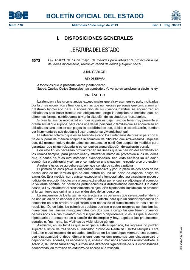 BOLETÍN OFICIAL DEL ESTADONúm. 116 Miércoles 15 de mayo de 2013 Sec. I. Pág. 36373I. DISPOSICIONES GENERALESJEFATURA DE...