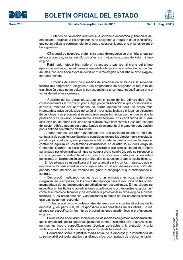 BOLETÍN OFICIAL DEL ESTADO Núm. 213 Sábado 5 de septiembre de 2015 Sec. I. Pág. 78612 2.º Criterios de selección relati...