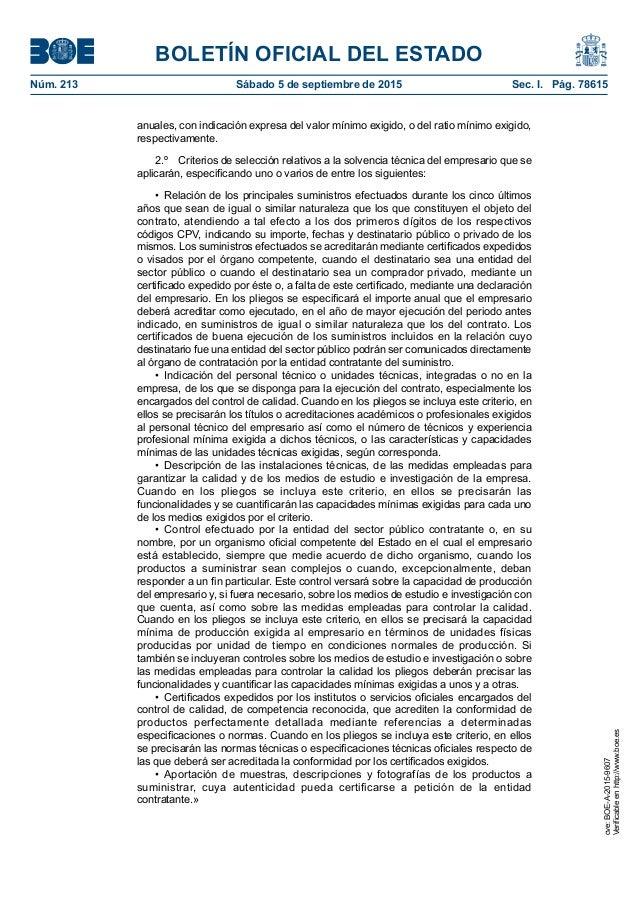 BOLETÍN OFICIAL DEL ESTADO Núm. 213 Sábado 5 de septiembre de 2015 Sec. I. Pág. 78615 anuales, con indicación expresa de...