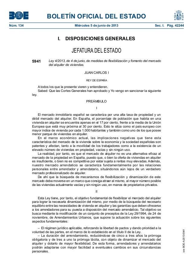 BOLETÍN OFICIAL DEL ESTADONúm. 134 Miércoles 5 de junio de 2013 Sec. I. Pág. 42244I. DISPOSICIONES GENERALESJEFATURA DE...