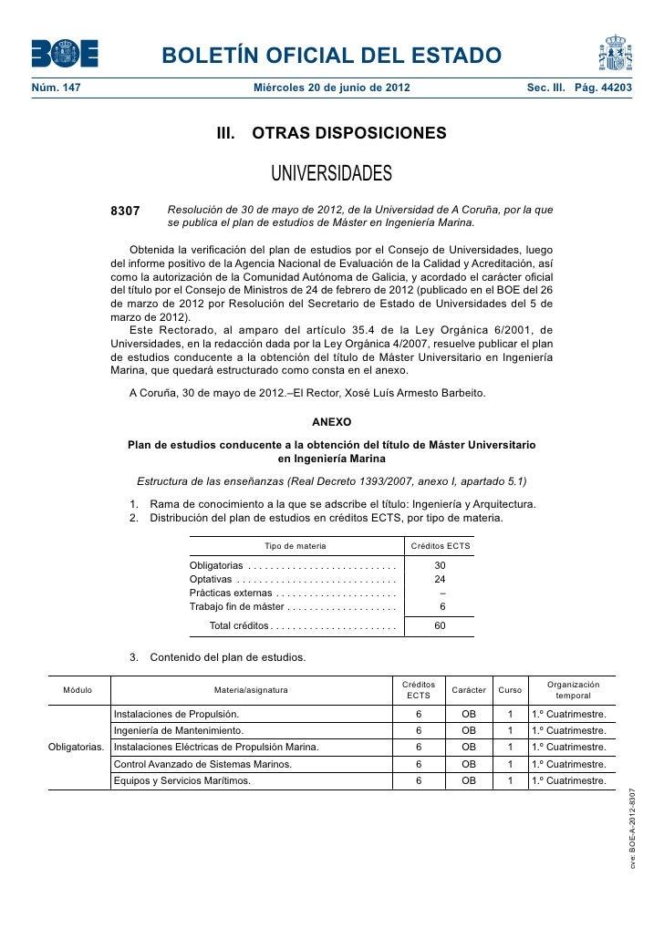 BOLETÍN OFICIAL DEL ESTADONúm. 147                                             Miércoles 20 de junio de 2012            ...