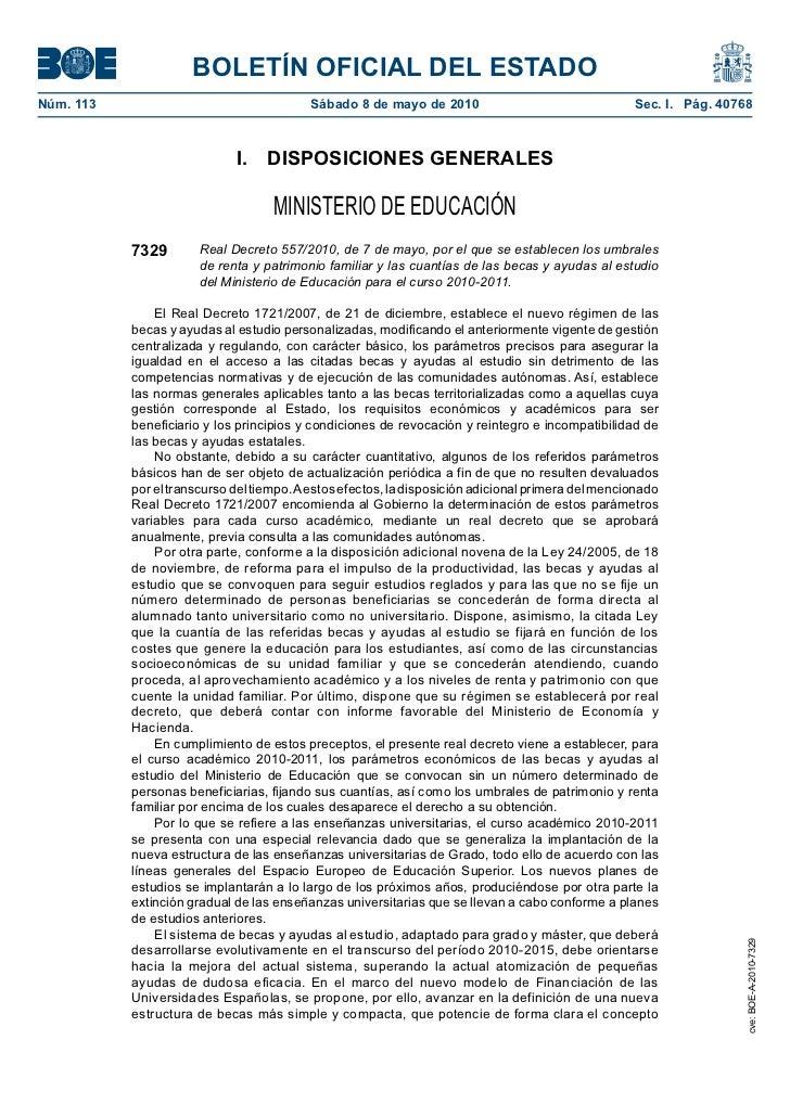 BOLETÍN OFICIAL DEL ESTADONúm. 113                                  Sábado 8 de mayo de 2010                            ...