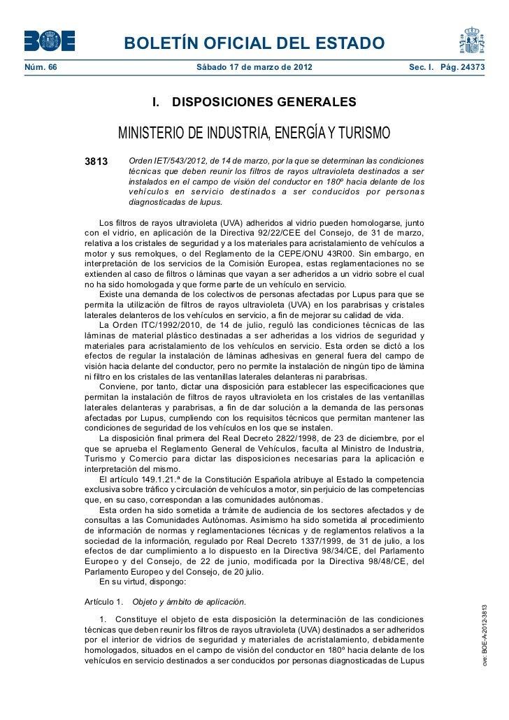 BOLETÍN OFICIAL DEL ESTADONúm. 66                                 Sábado 17 de marzo de 2012                            ...