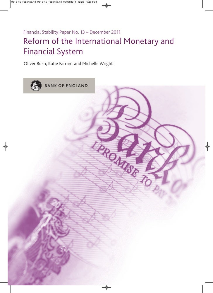 9815 FS Paper no.13_9815 FS Paper no.13 09/12/2011 12:25 Page FC1        Financial Stability Paper No. 13 – December 2011 ...