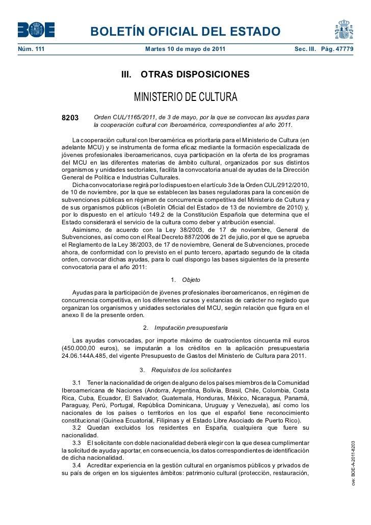 BOLETÍN OFICIAL DEL ESTADONúm. 111                                  Martes 10 de mayo de 2011                             ...