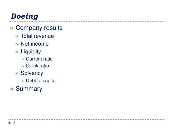 corporate finance boeing