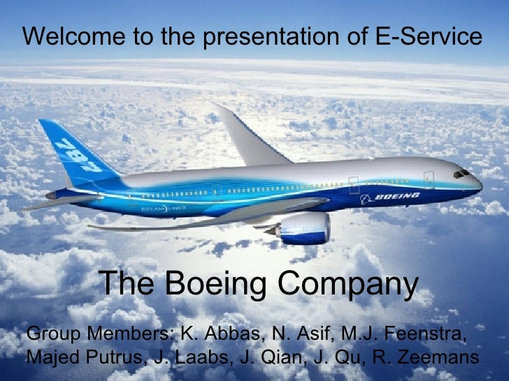 Welcome to the presentation of E-Service Group Members:  K. Abbas, N. Asif,  M.J. Feenstra, Majed Putrus, J. Laabs,  J. Qi...