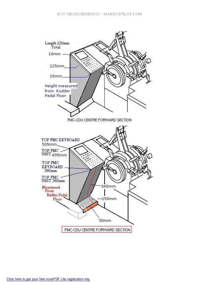 Boeing 737 measurements