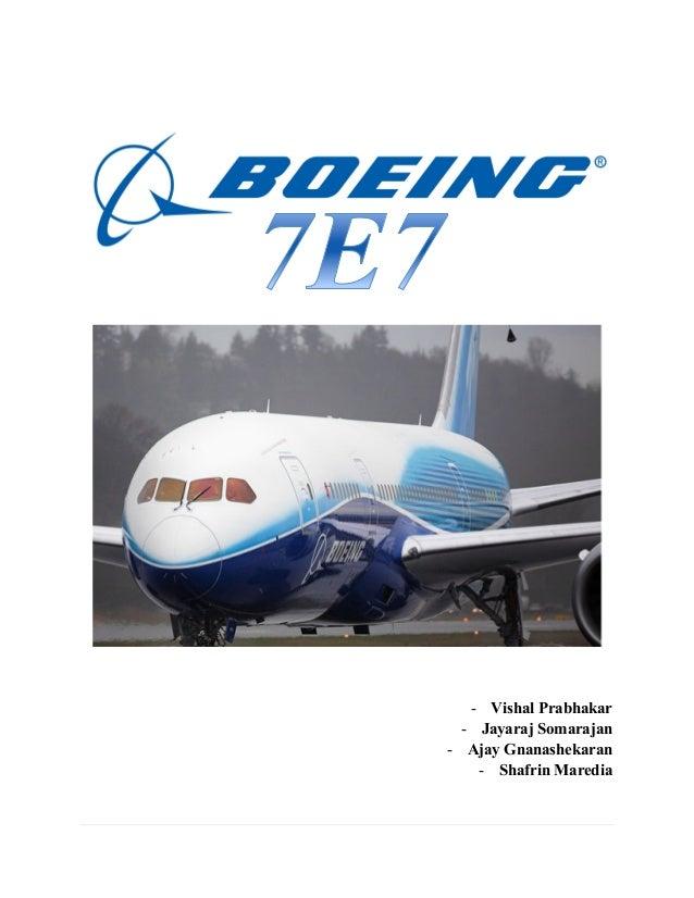boeing 7e7 case study excel
