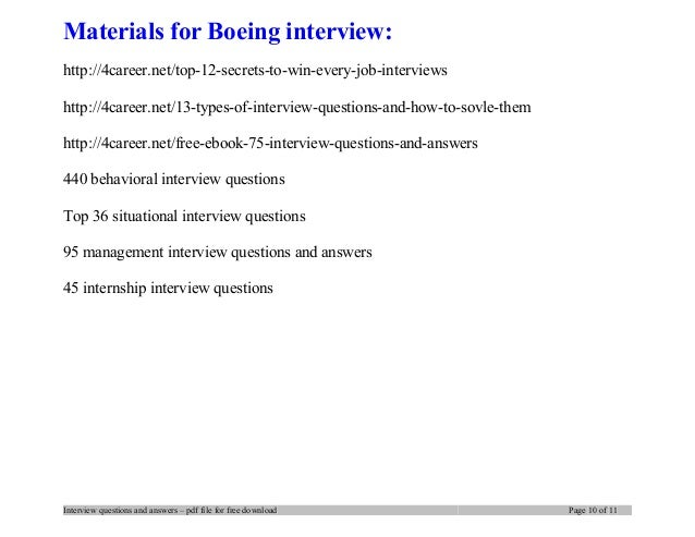 boeing interview questions and answers pdf ebook free download