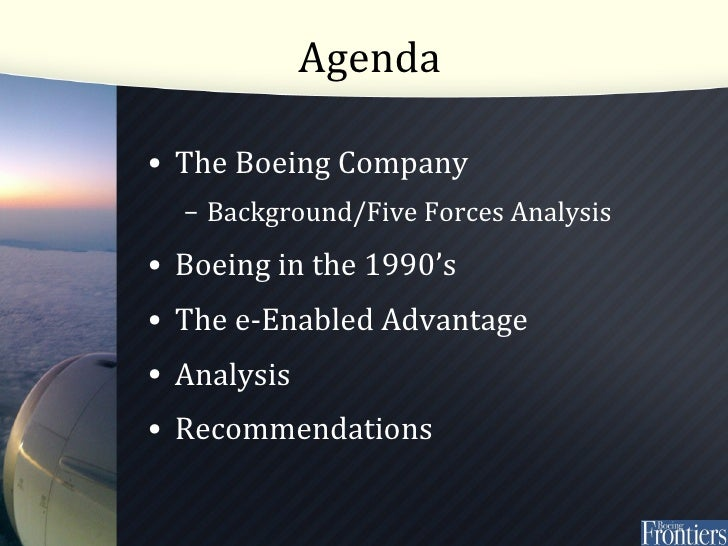 boeings e enabled advantage essay Common types of corporate strategies turn a global presence into global competitive advantage and enabled mass customization advantages of e.