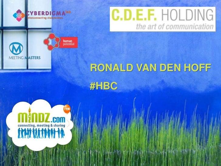 RONALD VAN DEN HOFF<br />#HBC<br />