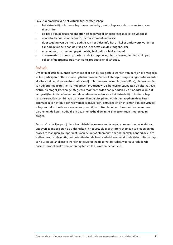 13.4 Ontwikkel een virtueel schap voor tijdschriften De aanbevelingen gericht op het mainstream en het alternatieve verkoo...