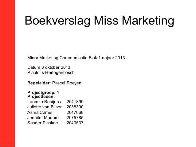 boekverslag miss marketing